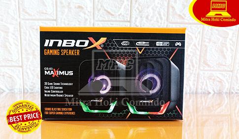 Speaker Gaming Inbox RGB GS03 Maximus USB Murah