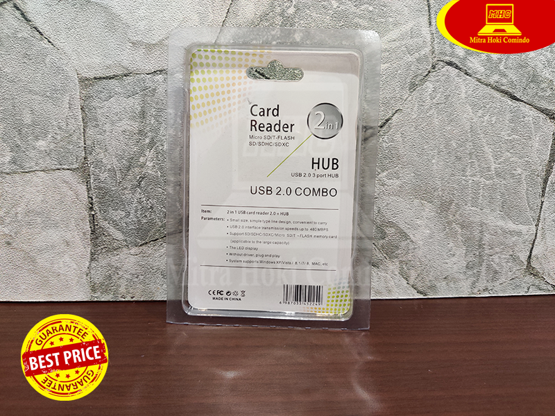 Usb Hub 3 port 2.0 480Mbps Card Reader Micro SD/T-Flash/SD/SDHC/SDXC