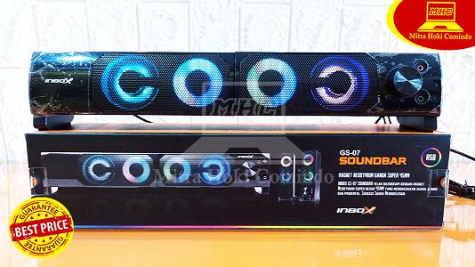 Speaker Gaming Inbox RGB GS07 Soundbar USB Murah